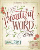 NKJV, Beautiful Word Bible, Large Print, Hardcover, Red Letter Edition: 500 Full-Color Illustrated Verses cover photo