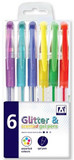 Glitter & Scented Gel Pens - 6 Assorted Colours cover photo