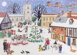 Advent Calendar Card Christmas In The Village