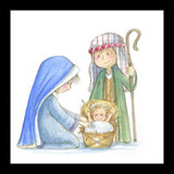 The Baby Jesus Christmas card (pack of 5) cover photo
