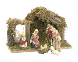 "Nativity Set with 6 x 4"" figures and Wood Shed [5034951896608]"