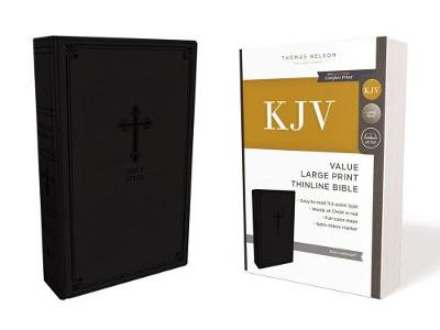 KJV, Value Thinline Bible, Large Print, Leathersoft, Black, Red Letter Edition, Comfort Print cover photo