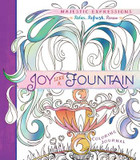 Adult Coloring Journal: Joy Like a Fountain: 24 Inspiring Illustrations & Scripture Quotes Throughout cover photo