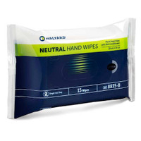 Halyard Neutral Hand Wipes 20cm x 20cm 15 wipes (HAL8835)