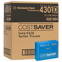Kimberly Clark COSTSAVER Interfold Toilet Tissue 72 Packs (4301) Kimberly Clark Professional