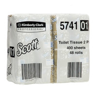 Scott Toilet Tissue 2 Ply 48 Rolls x 400 Sheets (5741) Kimberly Clark Professional
