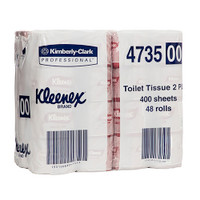 Kleenex Deluxe Toilet Tissue 2 Ply 48 Rolls x 400 Sheets (4735) Kimberly Clark Professional