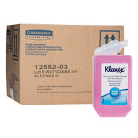 Kleenex Luxury Foam Soap Skin Cleanser with Moisturiser 6 x 1 Litre (12552) Kimberly Clark Professional