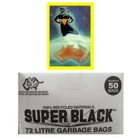 Super Black 72L Super Tough Heavy Duty Garbage Bag 50/pack