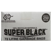 Super Black 72L Super Tough Heavy Duty Garbage Bag 250/ctn