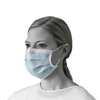 Basic Procedure Face Masks with Earloops 50/box (NON27378) Medline Products