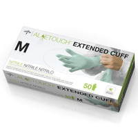 "Medline Aloetouch 12"" Chemo Nitrile Exam Gloves Medium (MDS195185M) Medline Products"