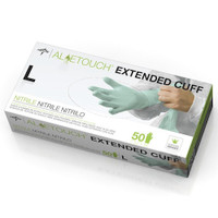 "Medline Aloetouch 12"" Extended Cuff Chemo Nitrile Exam Gloves Large 50/bx Medline Products"