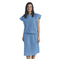 Medline Patient Gown Sleeveless Blue Regular 10/pack (NON27046)