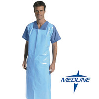 Medline Heavy Weight Blue Aprons Fluid Resistant 100/ctn (NON24280) Medline Products