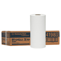 WYPALL X50 Small Roll Wipers White 4 Rolls 24.5cm x 70m (4198)