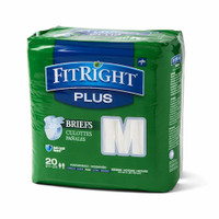 "Medline FitRight Plus MD Medium Brief 32-42"" 20 Briefs"