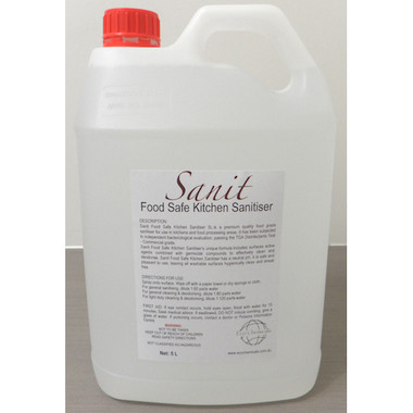 Sanit Food Safe Kitchen Sanitiser 5L Cleaning Chemicals by Eco Chemicals