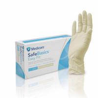 Medicom SafeBasics Easy Fit Latex Textured Exam Gloves Large (1188D)