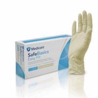 Medicom SafeBasics Easy Fit Latex Textured Exam Gloves XL (1188E)
