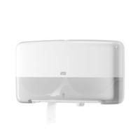 Tork® Twin Mini Jumbo Toilet Roll Dispenser White (555500) Tork Products