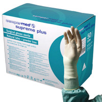 Sempermed Supreme Plus Surgical Gloves Sterile 7 1/2 Latex Powder Free (SUS822851E)