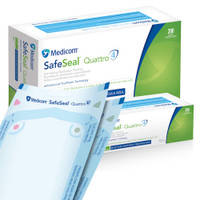 Medicom SafeSeal Quattro Pouch 57 x 102mm 200/box Medicom Products
