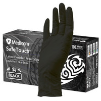 Medicom SafeTouch Ultimate Black Textured Latex Gloves Medium (1158C) Medicom Australia