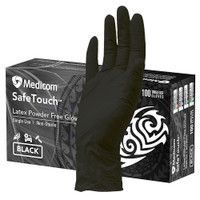 Medicom SafeTouch Ultimate Black Textured Latex Gloves Large (1158D) Medicom Australia