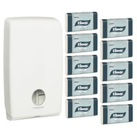 Kleenex Interleaved Optimum Hand Towel Starter Pack (4456 70250) Kimberly Clark Professional