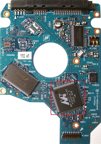 Toshiba Hard Drive PCB swapping replacement guide ... on