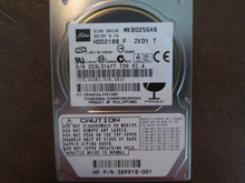 Toshiba MK8025GAS HDD2188 F ZK01 T PN:389918-001 610 A0/KA024A 80gb IDE (Donor for Parts) Z53L3147T (T)