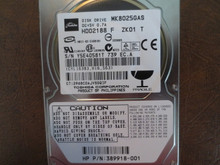Toshiba MK8025GAS HDD2188 F ZK01 T PN:389918-001 610 A0/KA024A 80gb IDE (Donor for Parts) Y5E40581T (T)