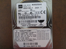 Toshiba MK8025GAS HDD2188 F ZK01 T PN:389918-001 610 A0/KA024A 80gb IDE (Donor for Parts) X6GBT0DJT (T)