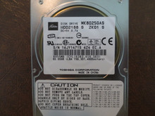 Toshiba MK8025GAS HDD2188 S ZK01 S 610 A0/KA023H 80gb IDE (Donor for Parts) 16JY1471S (T)