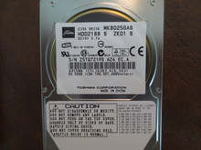 Toshiba MK8025GAS HDD2188 S ZK01 S 610 A0/KA023H 80gb IDE (Donor for Parts) Z5TQ7219S (T)