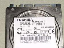 "Toshiba MK1032GSX HDD2D30 H ZK01 T 010 A0/AS026B 2.5"" 100GB Sata"