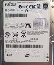 "10 pc. lot Fujitsu MHV2060BH 2.5"" 60gb 5400rpm Sata HDD (DOD tested & Wiped)"