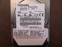 Toshiba MK6034GSX HDD2D35 B ZK01 T 010 A0/AH101A 60gb Sata