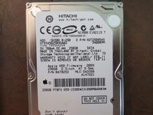 Hitachi HTS545025B9SA02 PN:0A78252 MLC:DA3350 Apple#655-1538D 250gb Sata (Donor for Parts) IX1080MQWDWKA (T)