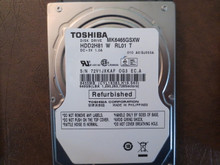 Toshiba MK6465GSXW HDD2H81 W RL01 T 010 A0/GJ003A 640gb Sata (Donor for Parts) 72V1JXKAF (T)