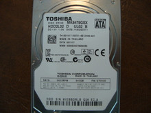 Toshiba MK6475GSX HDD2L02 D UL02 B FW:GT002D 640gb Sata (Donor for Parts) 81EBBDRLB (B)