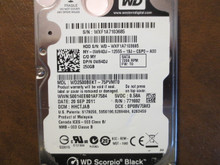 Western Digital WD2500BEKT-75PVMT0 DCM:HHCTJAB 250gb Sata (Donor for Parts)