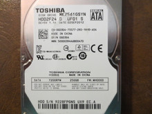 Toshiba MK2561GSYN HDD2F24 D UF01 S FW:MH000D 250gb Sata (Donor for Parts)