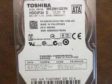 Toshiba MK2561GSYN HDD2F24 D UL01 T FW:MH000D 250gb Sata