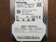 Toshiba MK3261GSYN HDD2F23 D UL01 B FW:MH000D 320gb Sata