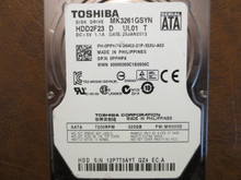 Toshiba MK3261GSYN HDD2F23 D UL01 T FW:MH000D 320gb Sata