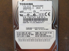 Toshiba MK6034GSX HDD2D35 C ZK01 T 010 A0/AH101A 60gb Sata