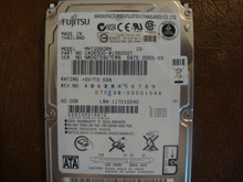 Fujitsu MHT2060BH CA06500-B156000T 07FFDB-0000104A 60gb Sata (Donor for Parts) NR0GT5927ERN