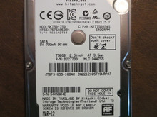 Hitachi HTS547575A9E384 PN:0J27703 MLC:DA4755 Apple#655-1684C 750gb Sata